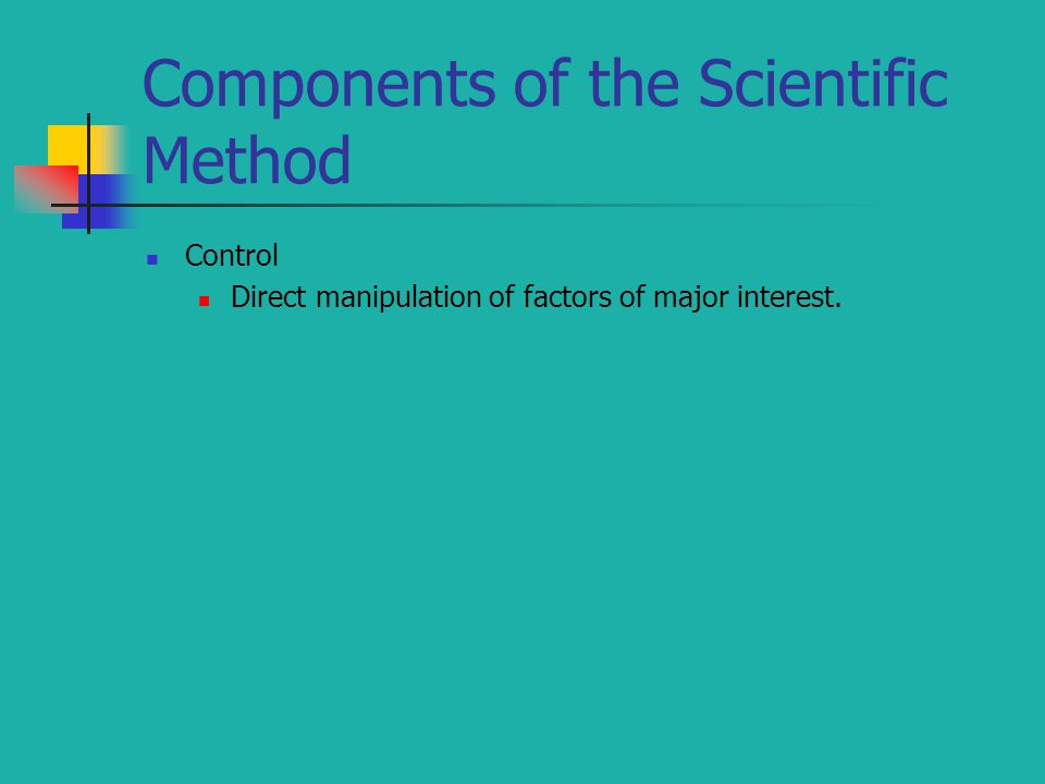 Components of the Scientific Method
