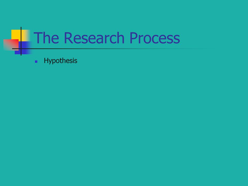 The Research Process Hypothesis