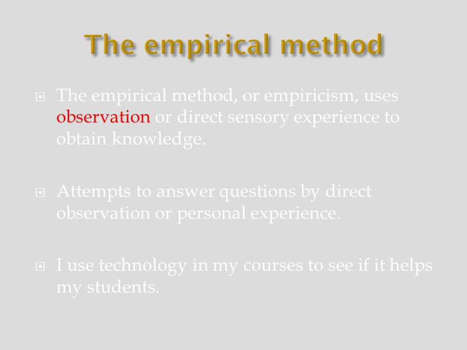 empiricism and empirical methods Empirical definition, derived from or guided by experience or experiment see more.
