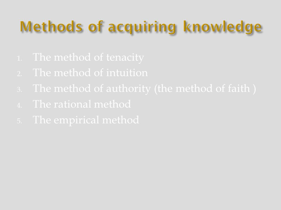 acquiring knowledge essay 16 structure and forms of knowledge 161 ways to acquiring knowledge 162  meaning of information 17 modes of education 171 formal education.