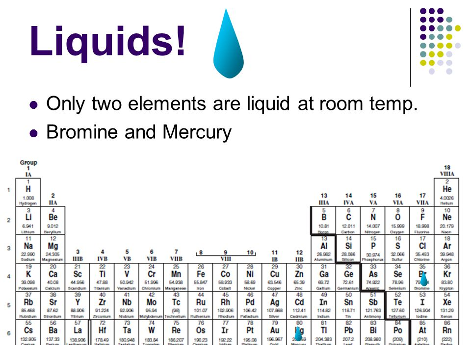Which Metals Are Liquid At Room Temperature