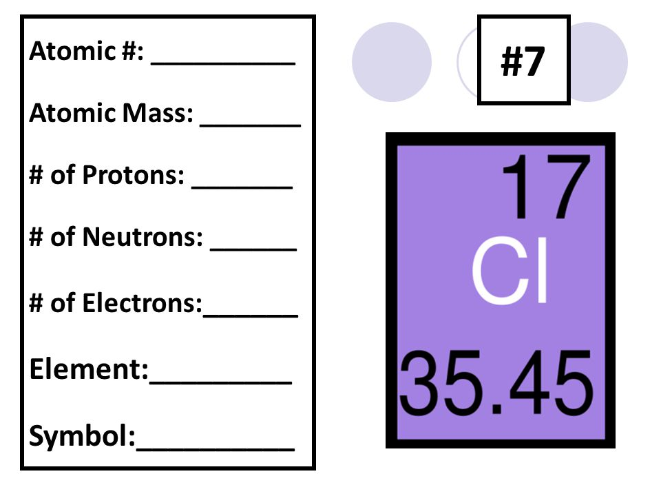 how to find atomic mass of a missing element