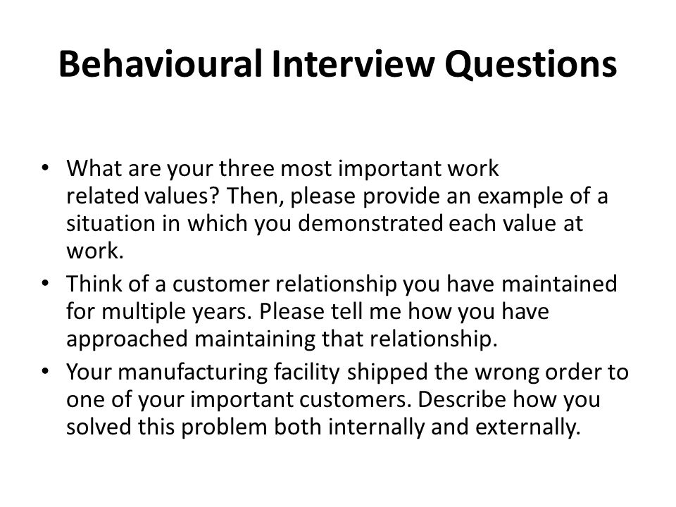 how to answer behavioural quetions