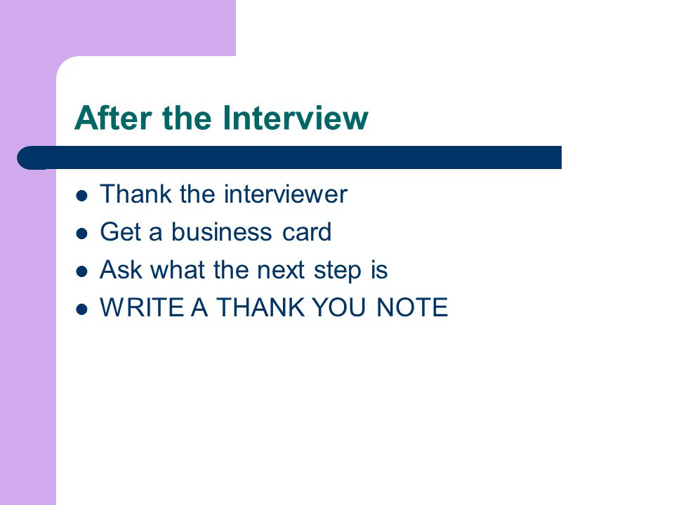 Enhance Your Interviewing Skills Ppt Video Online Download Interview Thank  You Letter Damage Control