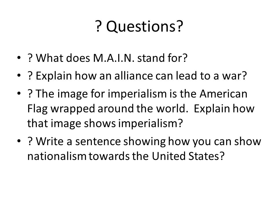 explain how imperialism led to an Many countries in the world experienced imperialism when they   industrialisation created a huge demand for raw materials and led to the.