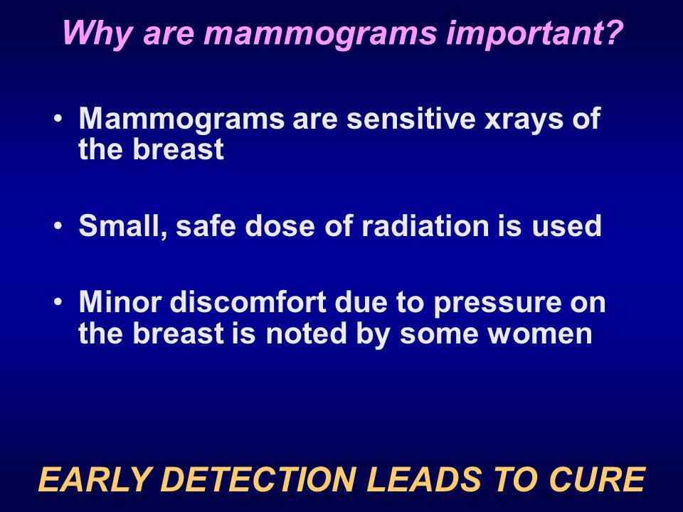 Why are mammograms important