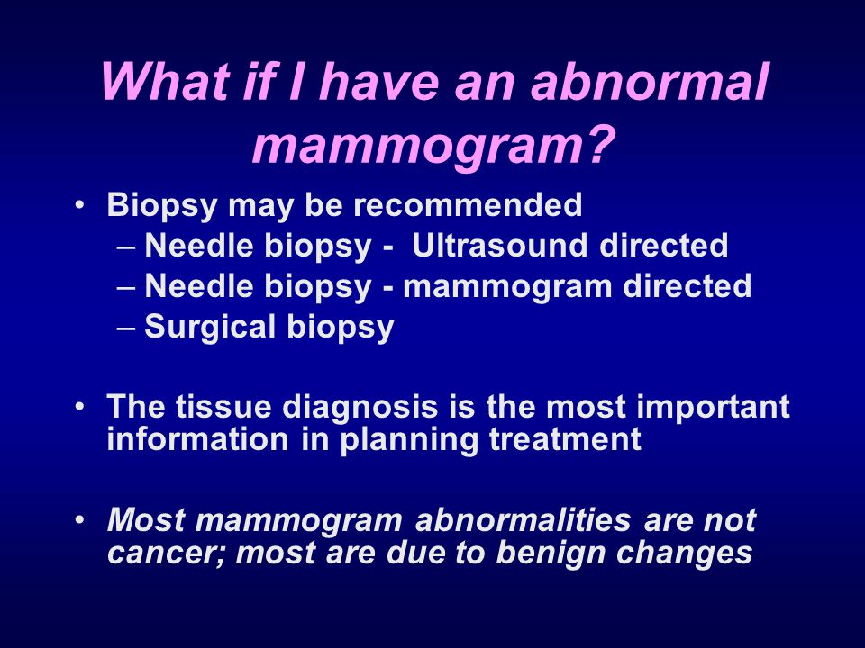 What if I have an abnormal mammogram
