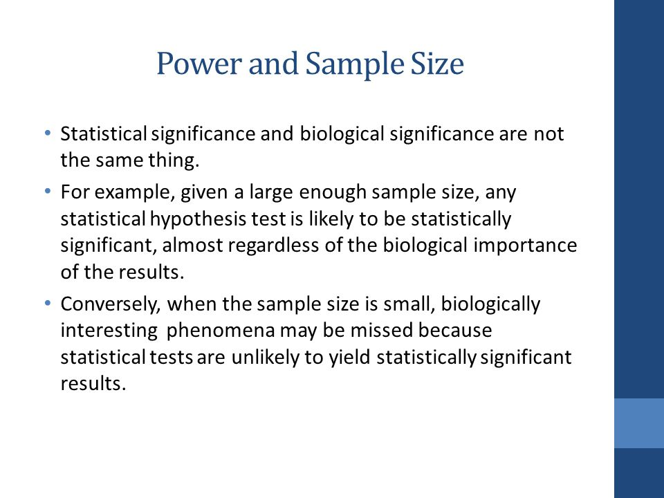 SAMPLE SIZE AND POWER CALCULATION - ppt download
