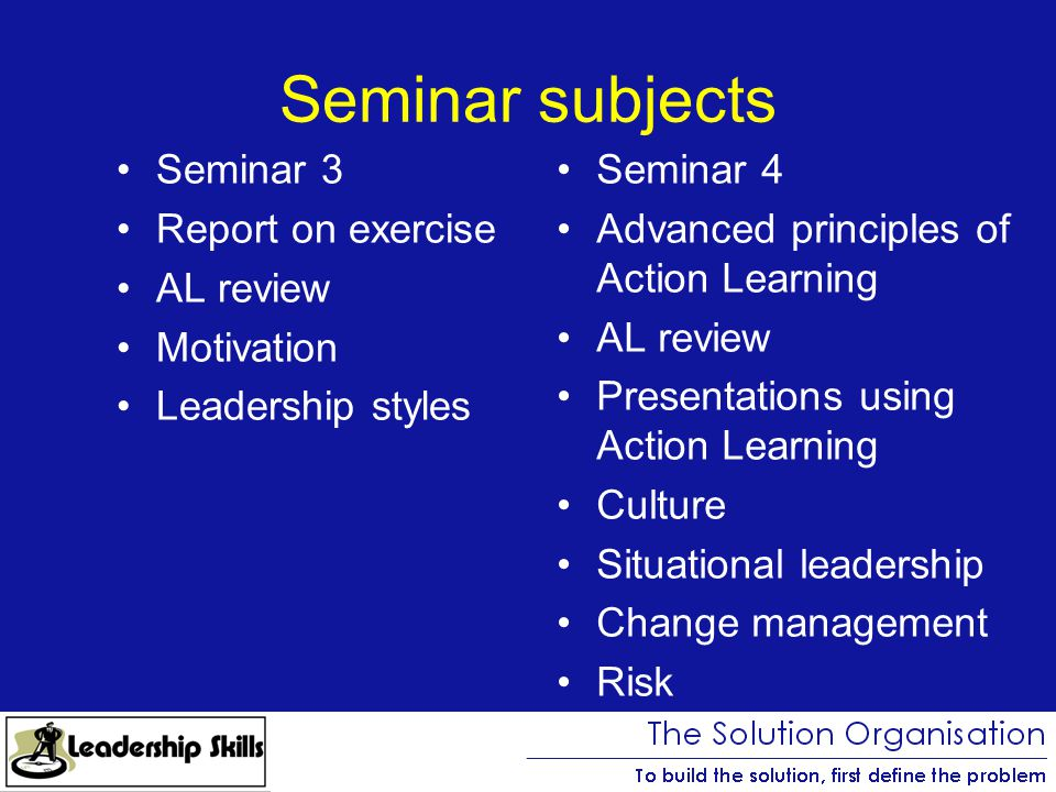 leadership development programme ppt  seminar subjects seminar 3 report on exercise al review motivation