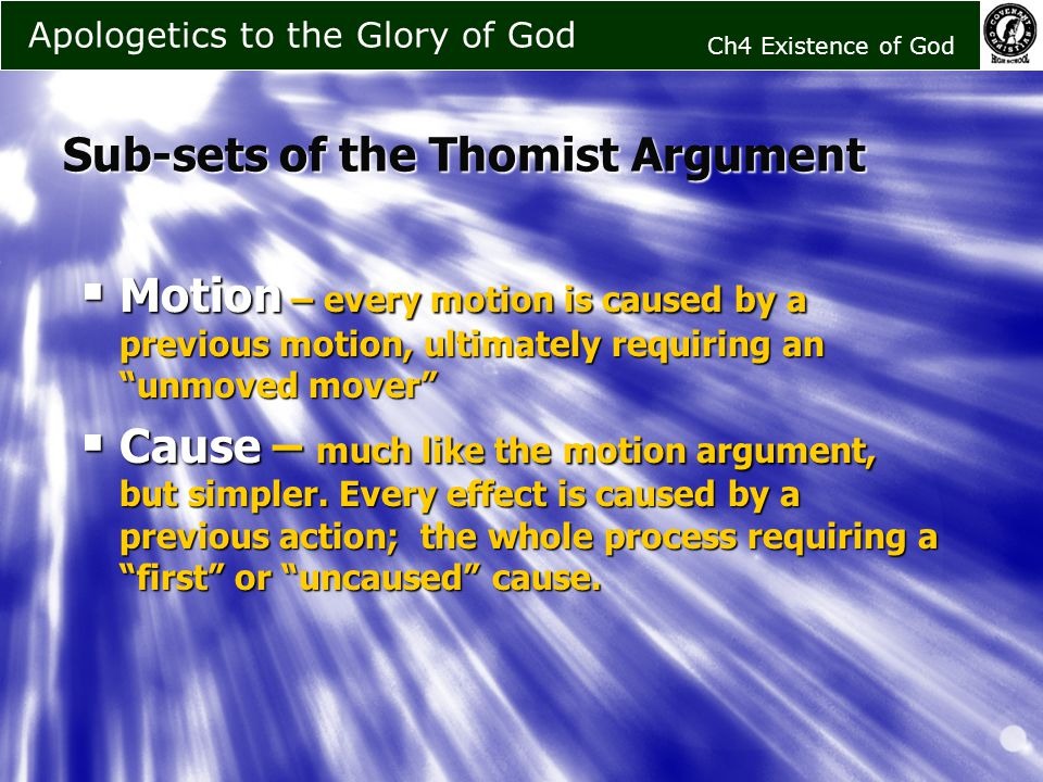 an overview of the methods of proving the existence of god of saint thomas aquinas Human nature accordiid to saint thomas aquinas for example, the existence of god if it can be proved by which by means of the scientific proof.