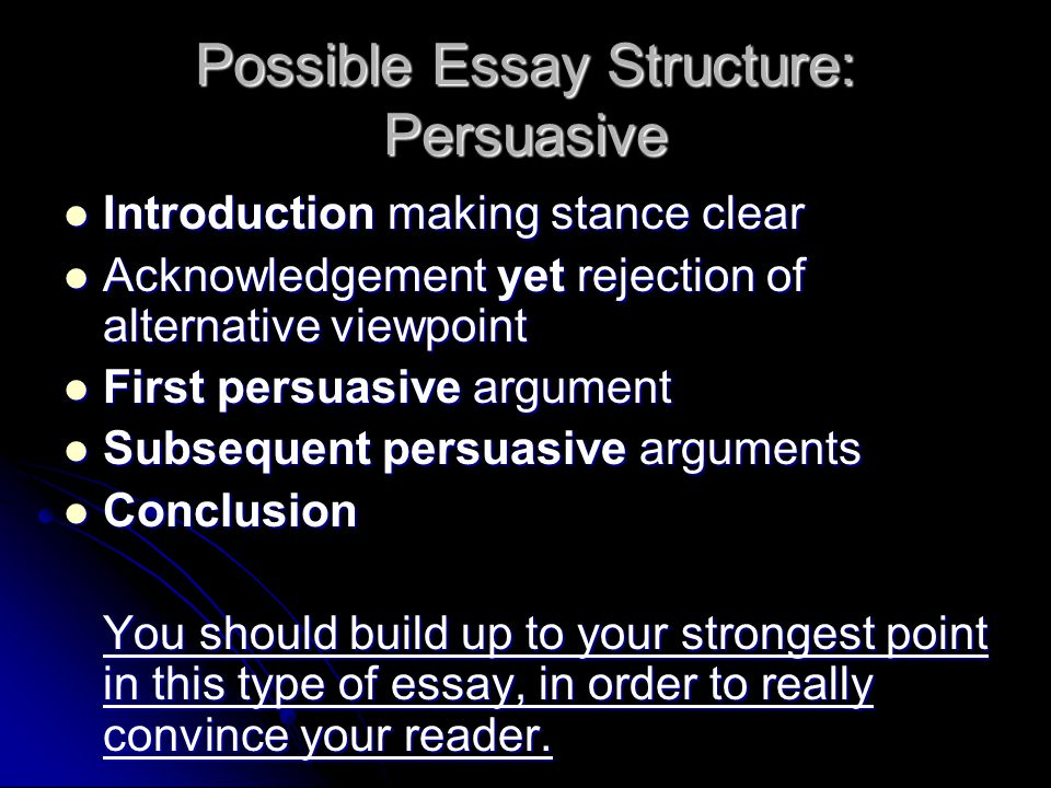 parts of a persuasive essay middle school A clear step-by step process of a persuasive essay learn with flashcards, games, and more — for free.