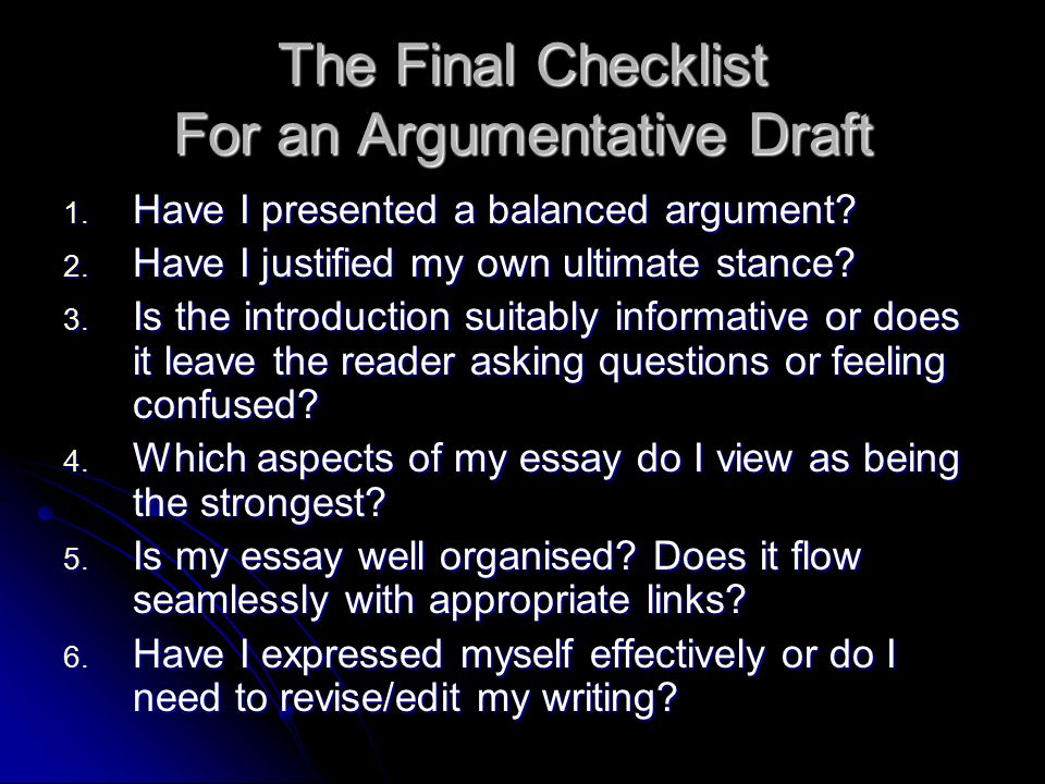 Chapter   Writing an Argumentative Essay      Writing Companion