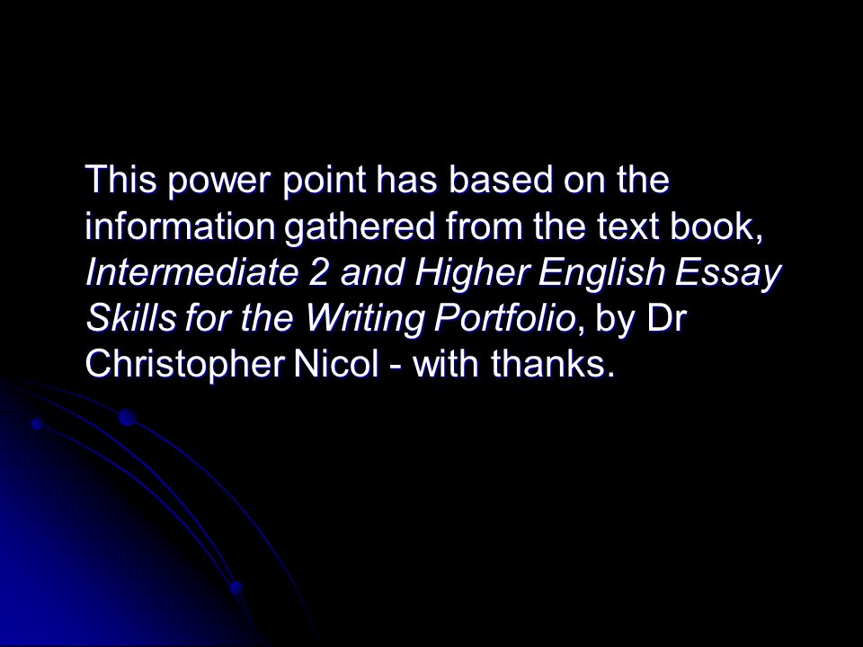 essay point power Open document below is an essay on microsoft power point from anti essays, your source for research papers, essays, and term paper examples.