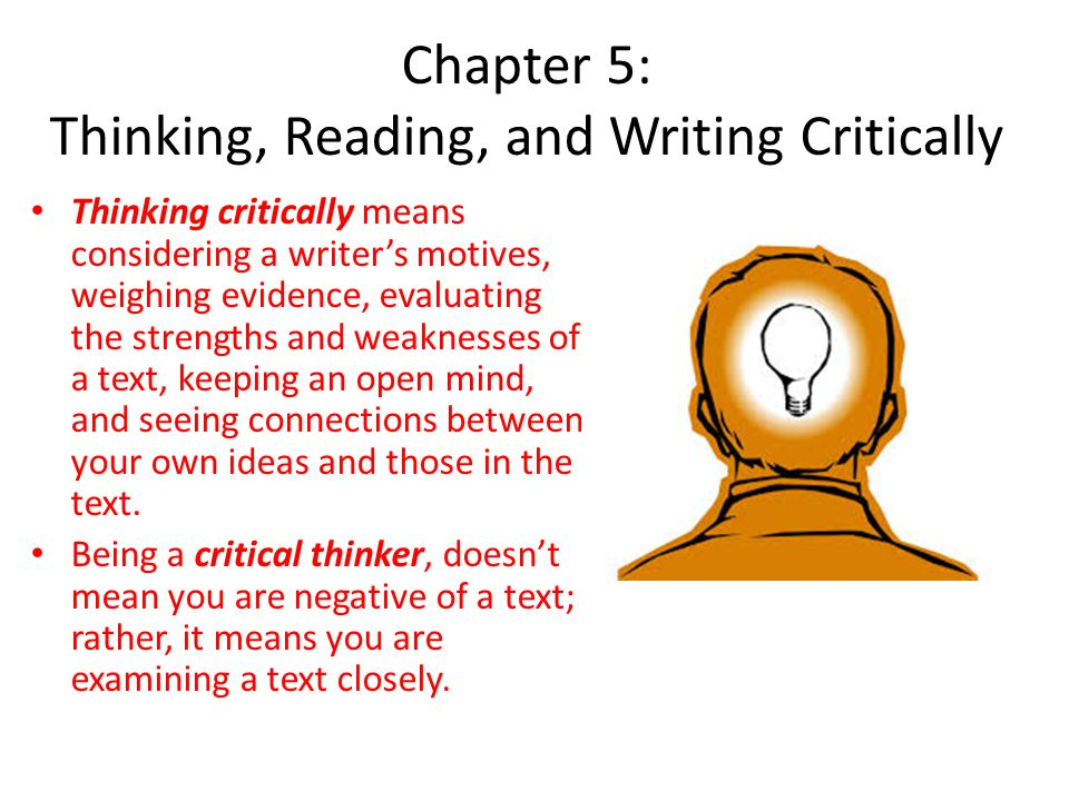 Critical Reading Towards Critical Writing