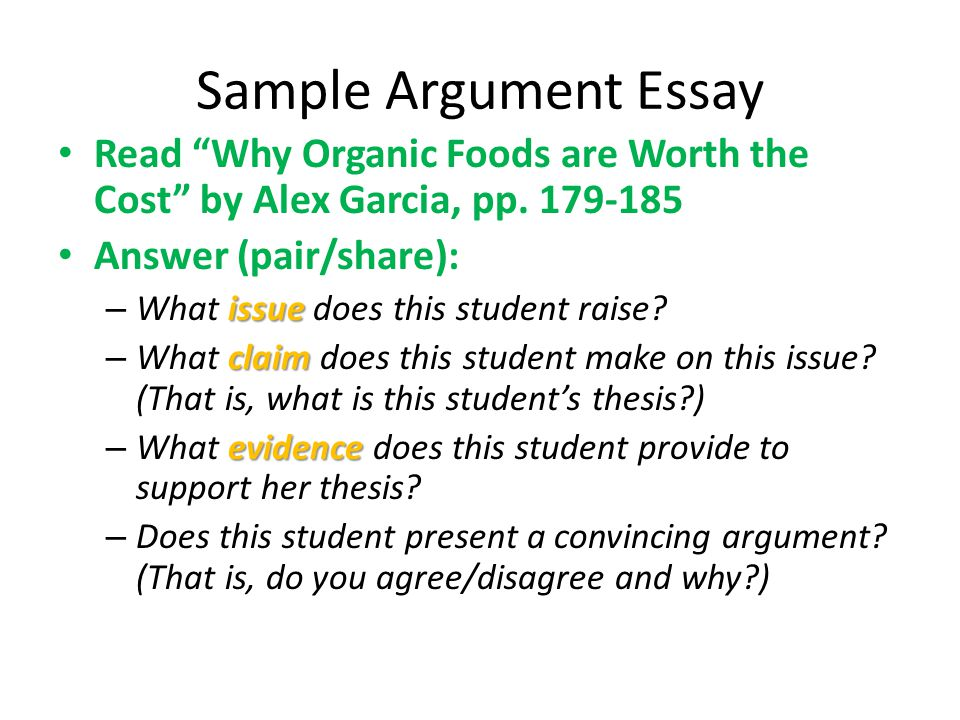 Worth cost argumentative college the essay is