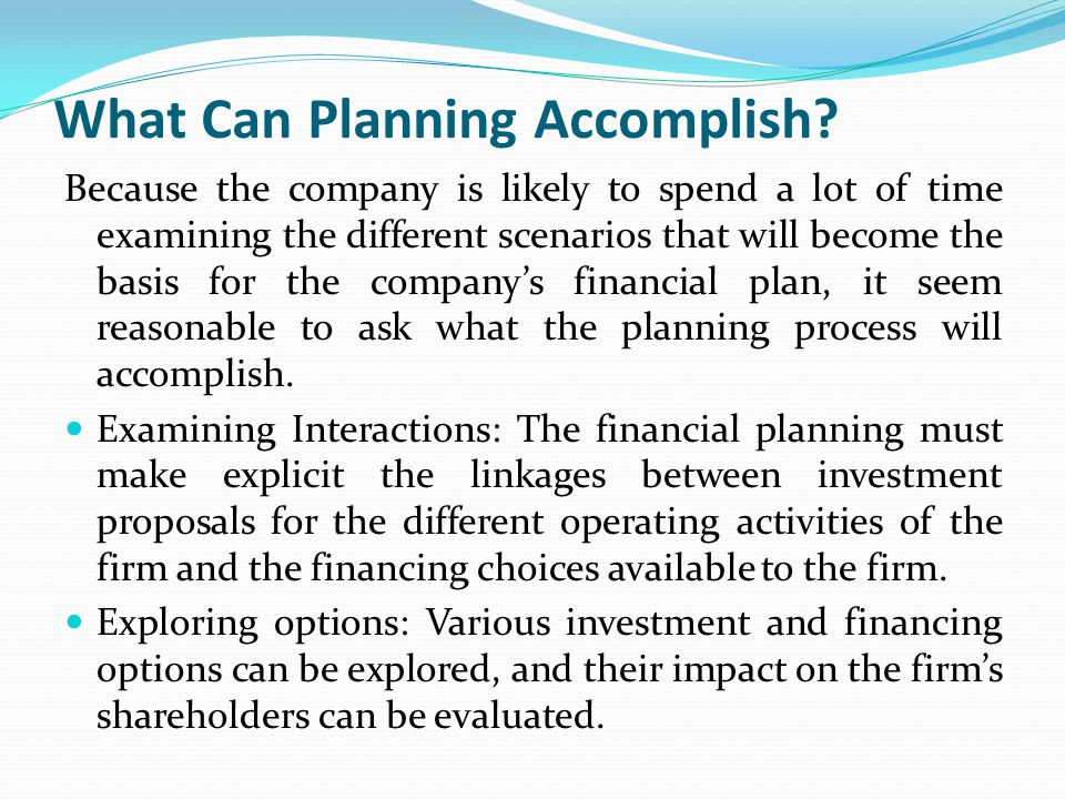 long term financial planning Long-term financial planning you just graduated and are probably about twenty-two years old age sixty-five seems eons away, and retirement is something you'll think about later.