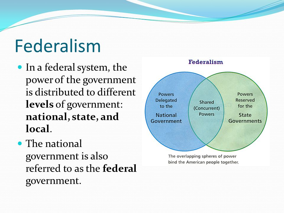 the history of state and federal The long history of political discourse in the united states helps explain the federal reserve's unique structure, in which the board of governors in washington and .