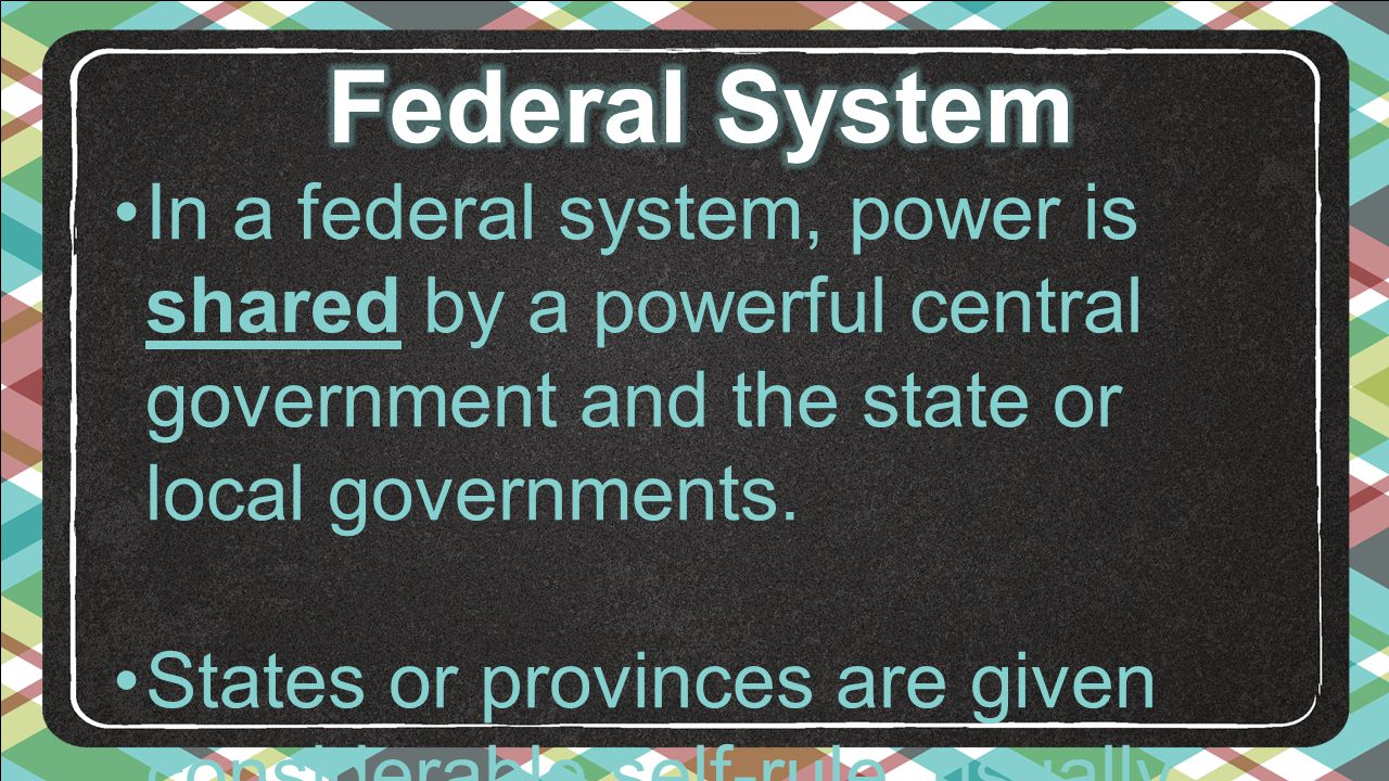 an analysis of the provinces and the federal system In his discussion of the relationship between provincial and federal political   vertical integration between parties in multi-level systems has.