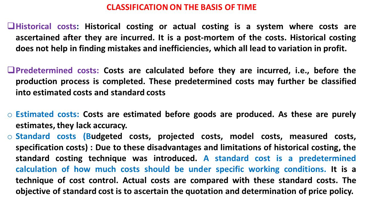 disadvantages of historical cost accounting The historical cost concept is a basic accounting concept read on to know more about the advantages and disadvantages of the historical cost.