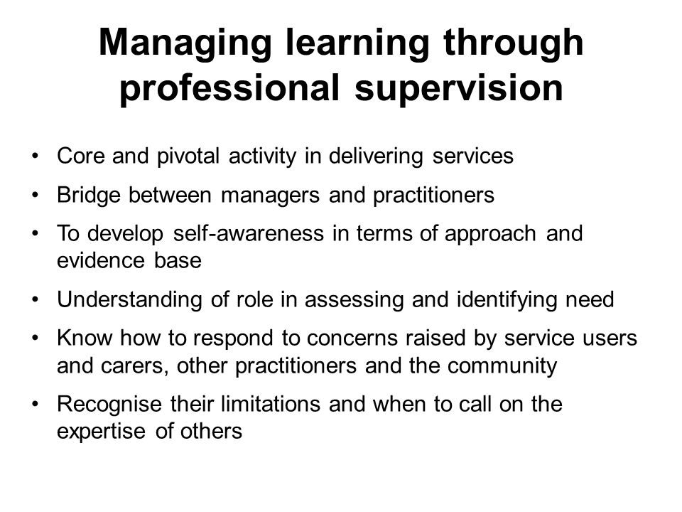 importance of supervision in social work pdf