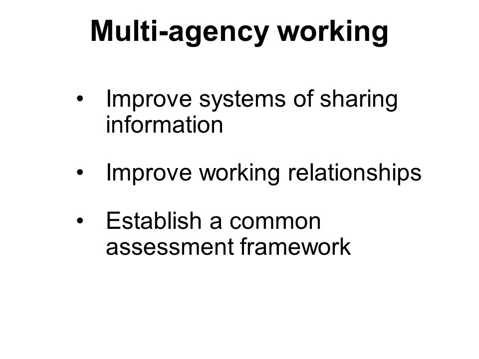 multi agency work Multi-agency coordination occurs whenever personnel from different agencies that have legal arrangements among agencies can be made to work.