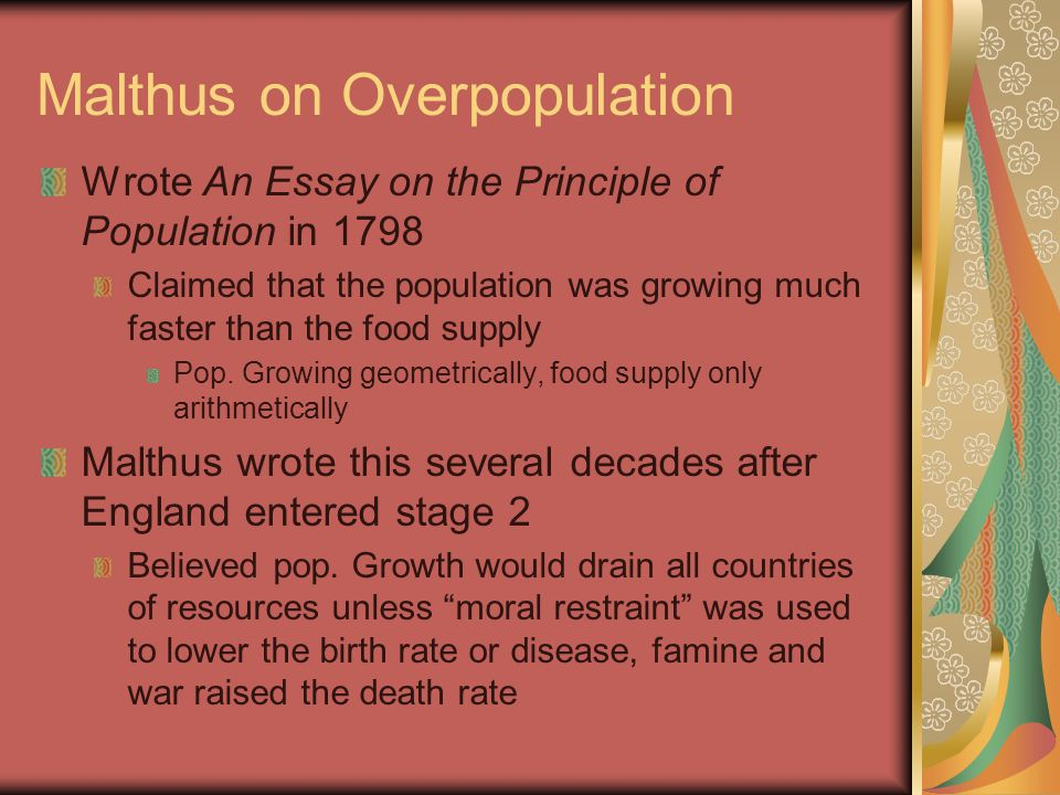 essay on overpopulation in world Over population has been identified as one of the major analysing the effects of overpopulation in developing countries disclaimer: this essay has been.