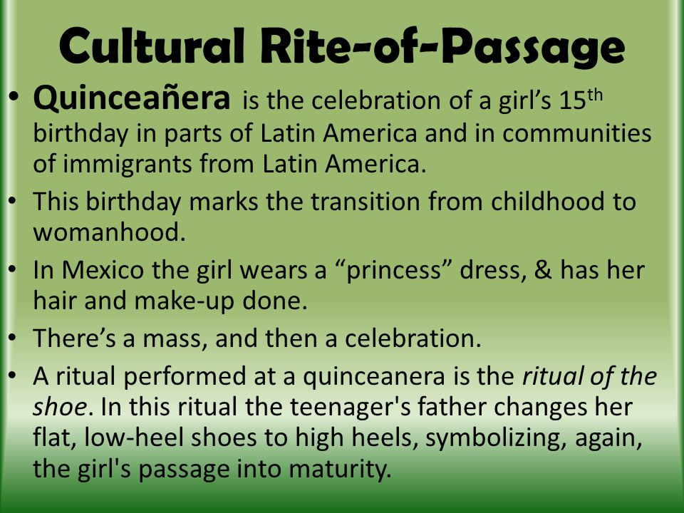 The Various Rites of Passage Rituals in Different Cultures