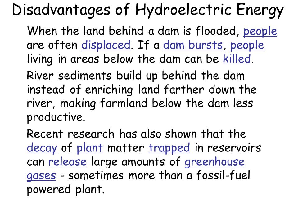 Disadvantages Of Hydroelectric Dams