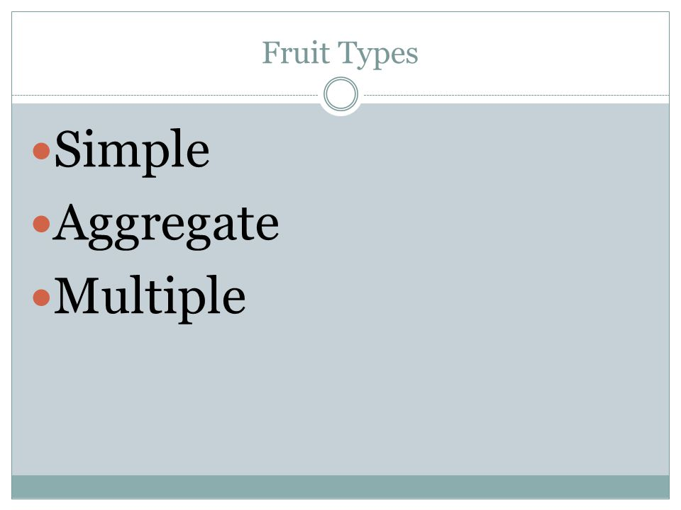 Fruit Types Simple Aggregate Multiple