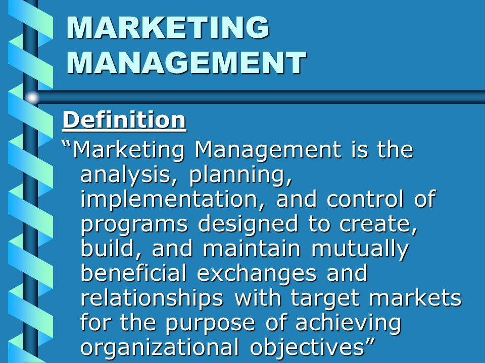 an analysis of marketing management philosophies American marketing association - the pre-eminent force in marketing for best and next practices, thought leadership and valued relationships, across the entire discipline of marketing.