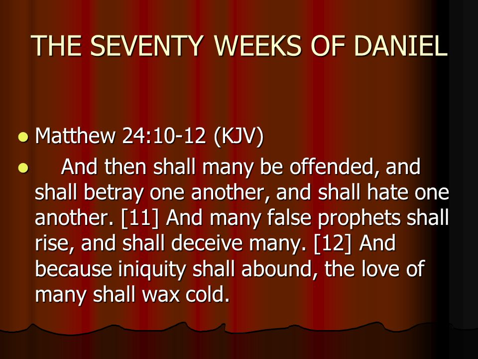 The Seventy Weeks Of Daniel Ppt Video Online Download