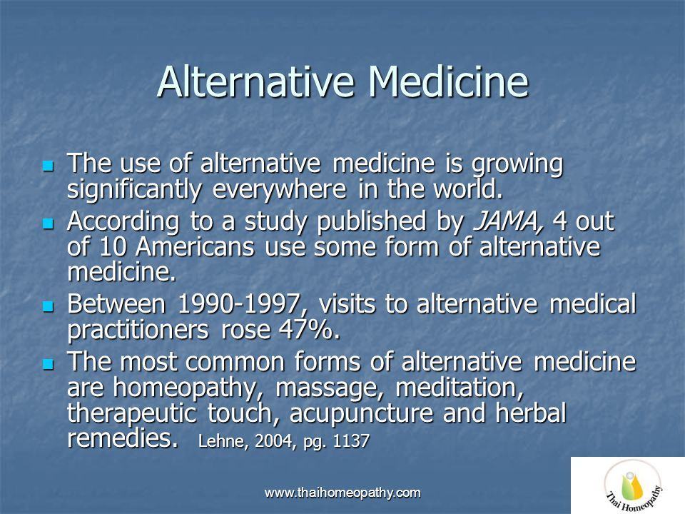 History of alternative medicine
