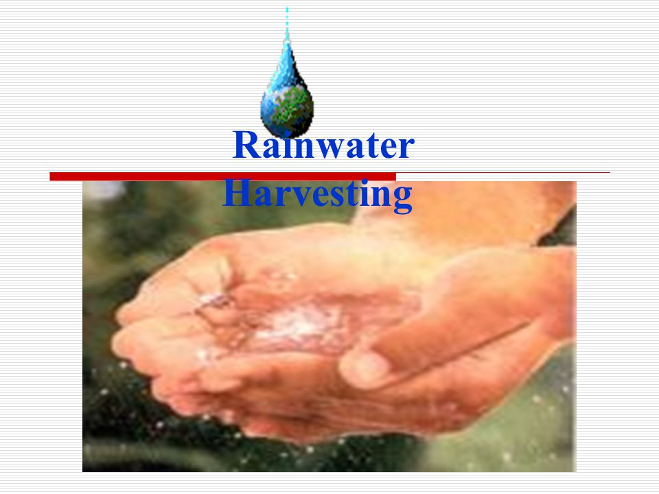 Rain water harvesting ppt.