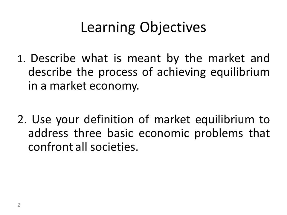 market equilibration process presentation Over time, if you just let this system come to some type of equilibrium-- i'm not  going to go  but anyway, this whole process-- we went from a container of high .
