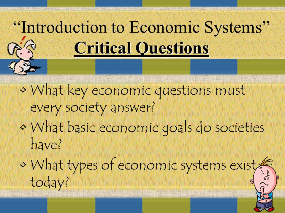 how to answer the four economic questions