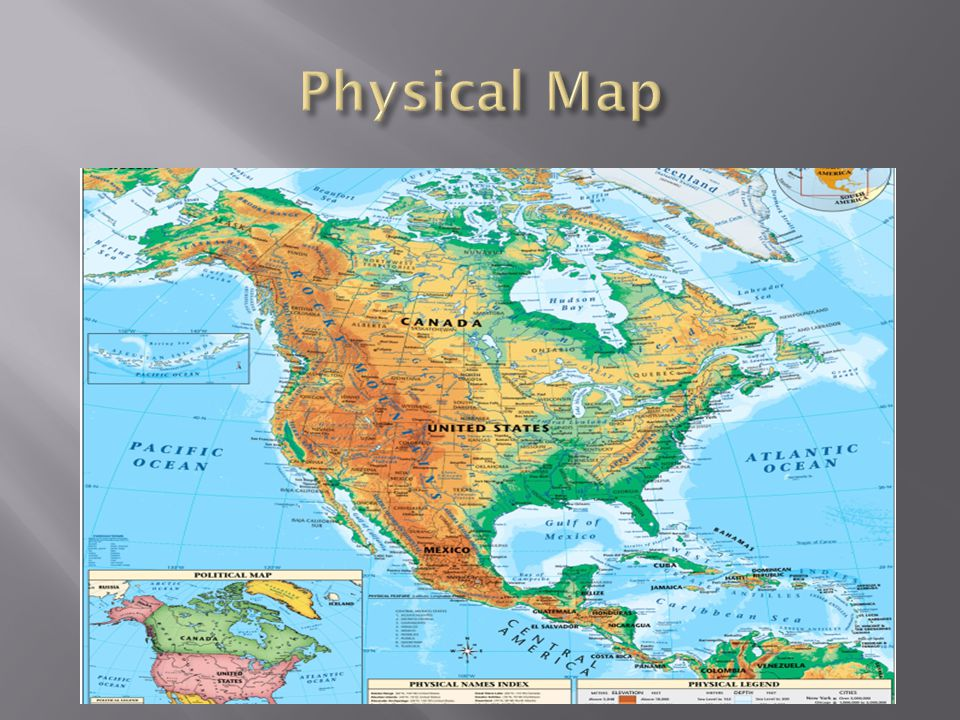 Types Of Maps Map Projections Ppt Video Online Download - Us and canada physical map