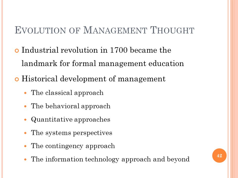 evolution of management thought quantitative The evolution of management theory through the 20th century the quantitative school of management combines classical management theory and behavioral science through the use of statistical models and simulations evolution of management thought bhavin aswani quality of work life balance.