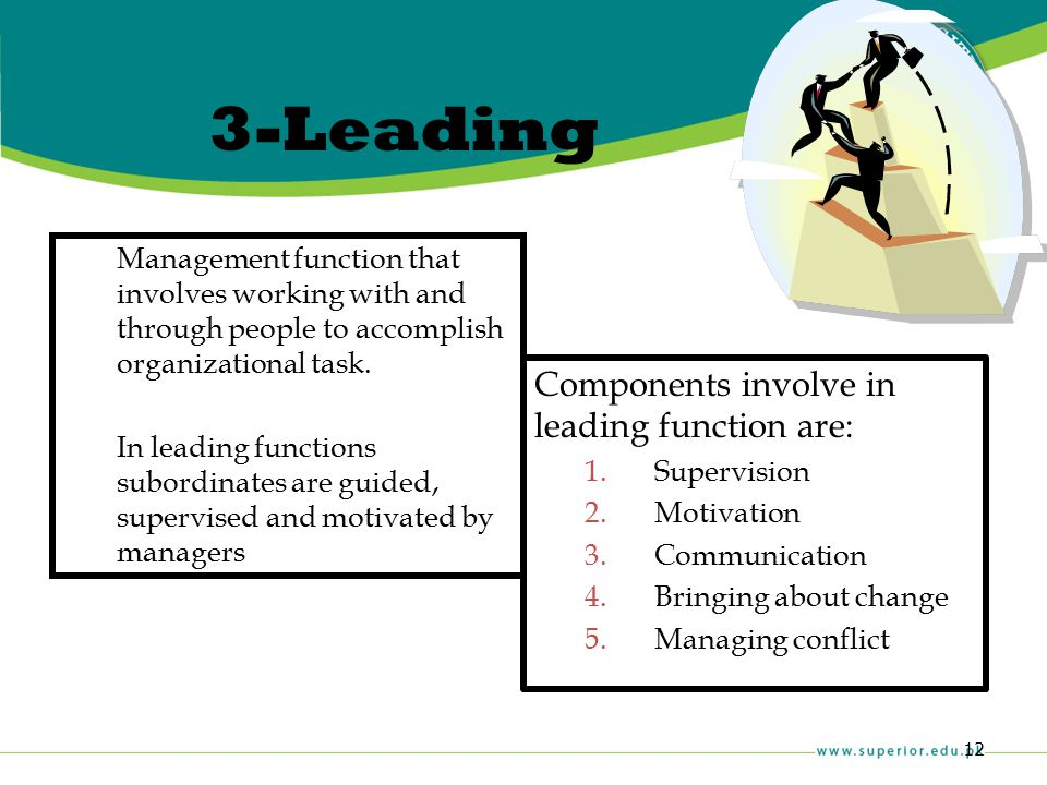 3-Leading Components involve in leading function are: