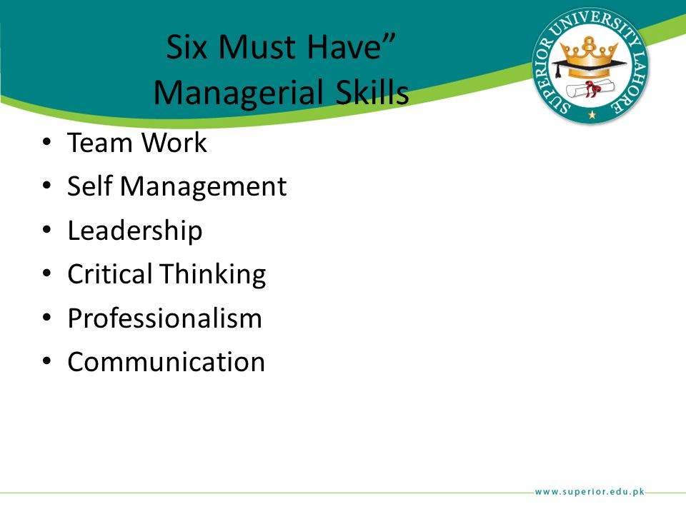 Six Must Have Managerial Skills