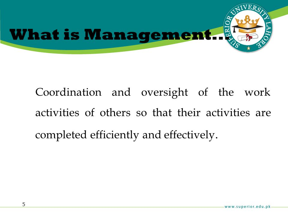 What is Management...