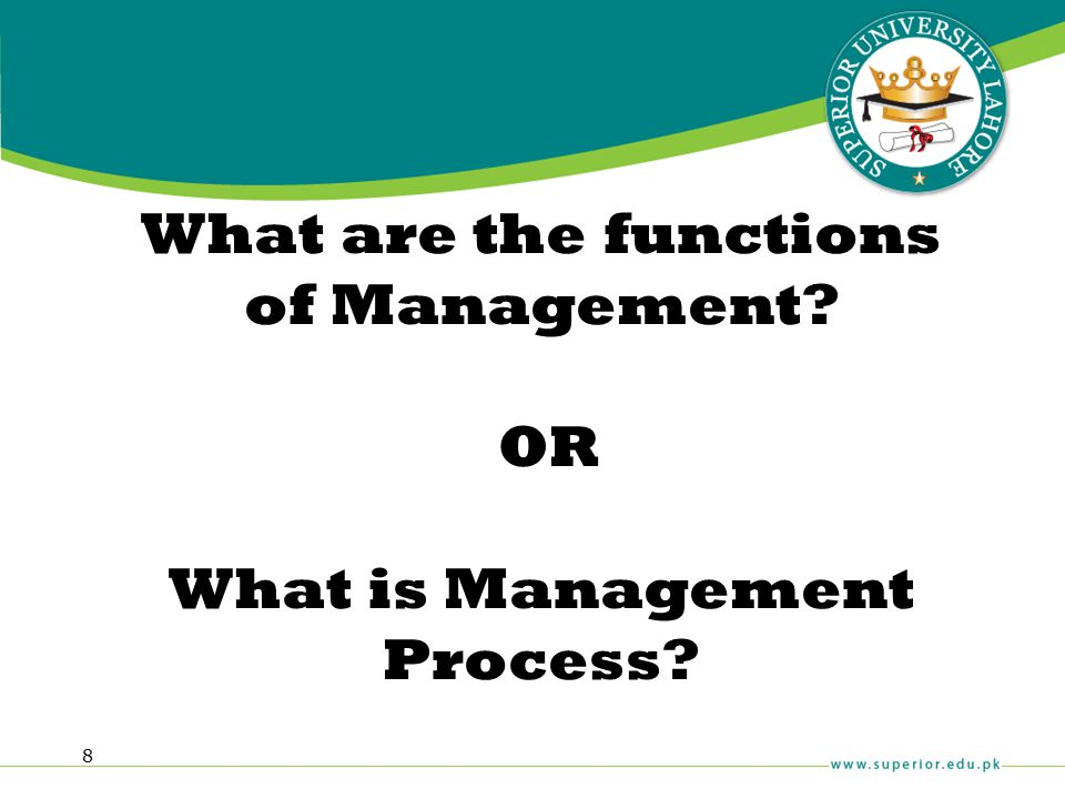 What are the functions of Management OR What is Management Process