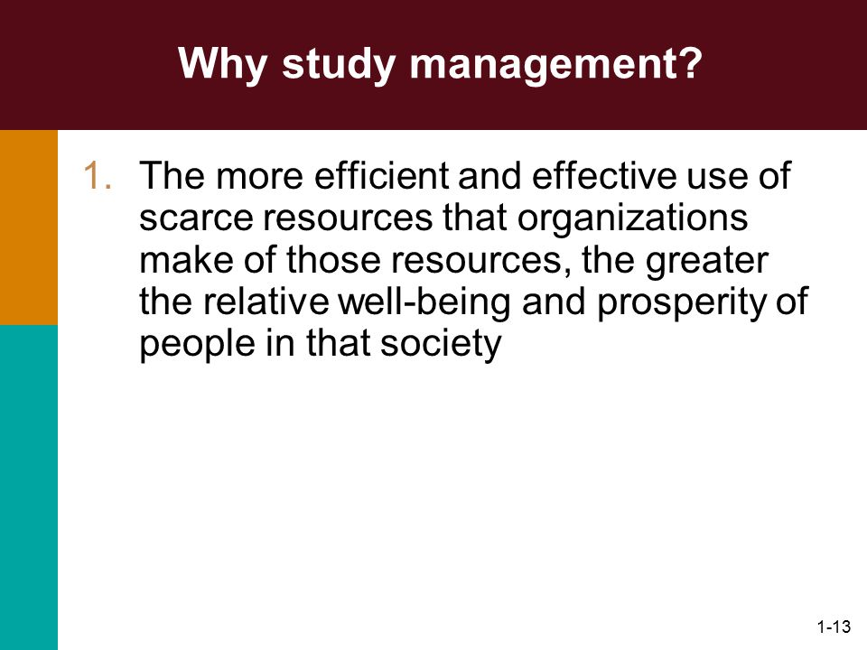 Why study management