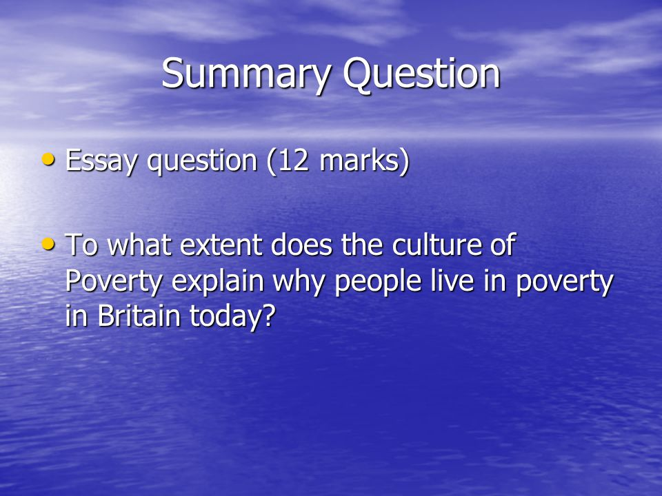 theories of poverty ppt video online  13 summary