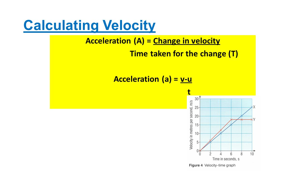 10 Calculating Velocity Acceleration (a) = Change In Velocity Time Taken  For The Change