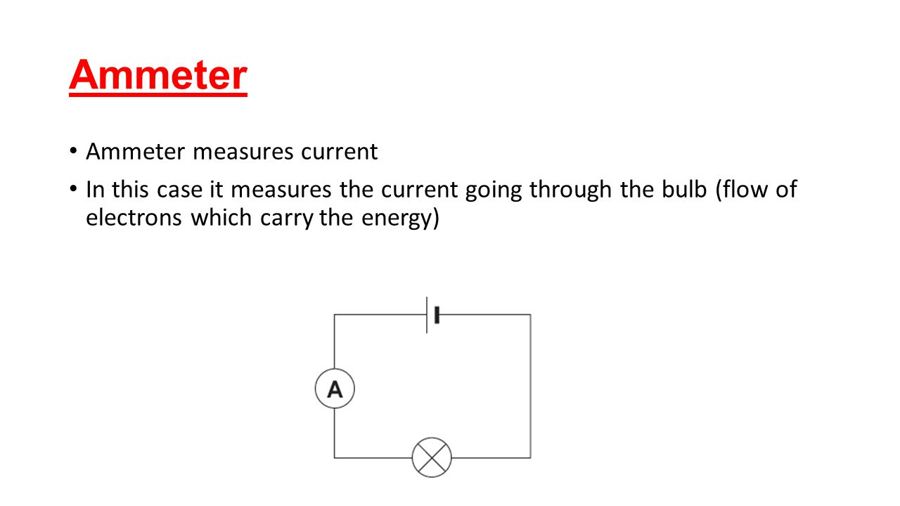 how to use an ammeter to measure current