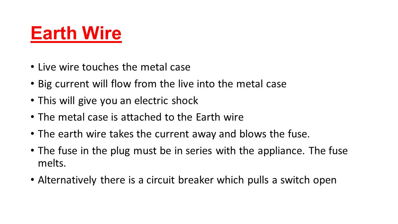 Magnificent Live Earth Wire Pictures - Schematic diagram and wiring ...