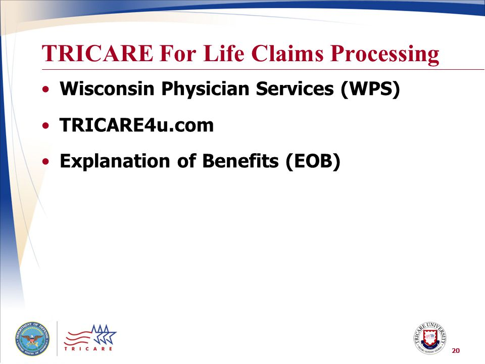 TRICARE For Life Claims Processing