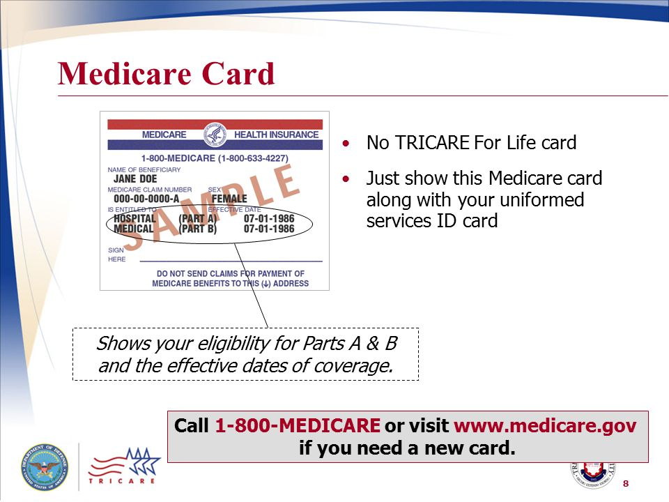 Call MEDICARE or visit