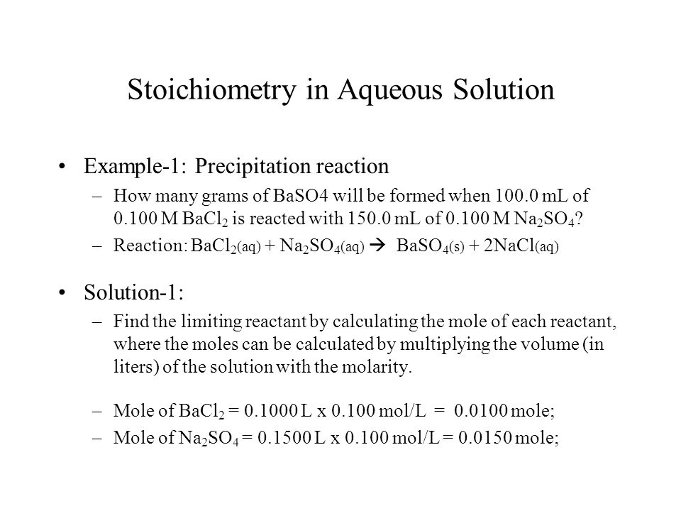 stoichiometry of a precipitation reaction Chapter 4 stoichiometry of chemical reactions figure 41 many modern rocket fuels are solid mixtures of substances combined in carefully measured amounts and ignited to yield a thrust-generating chemical reaction (credit: modification of work by nasa.