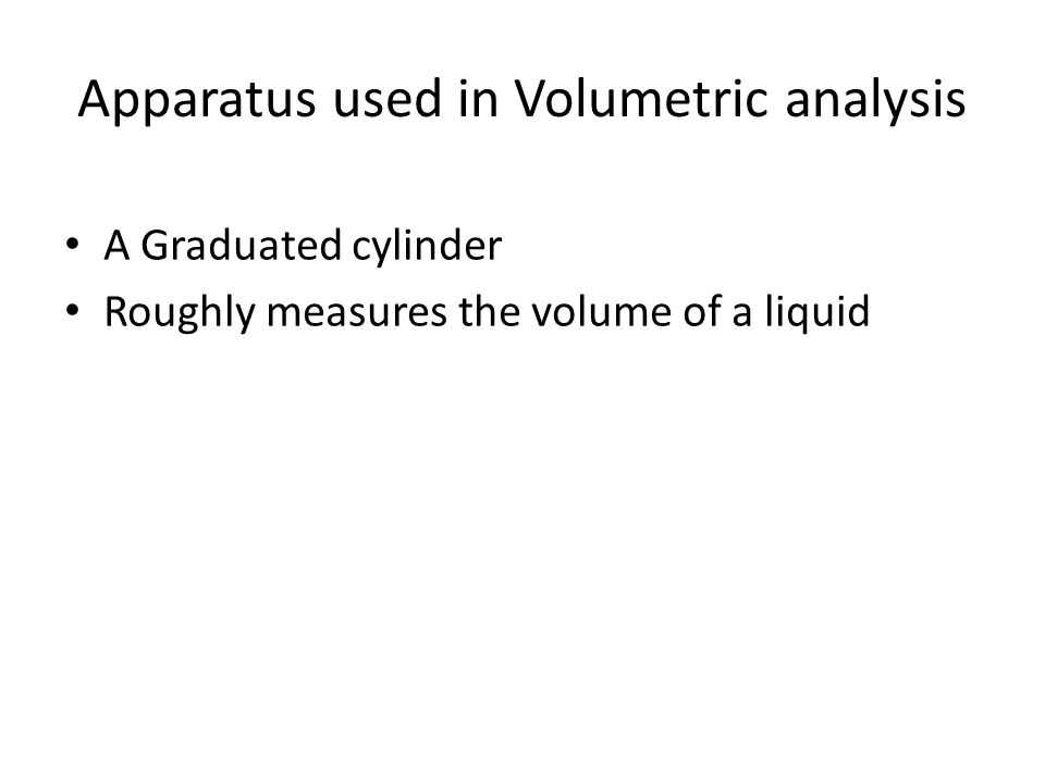 Apparatus used in Volumetric analysis